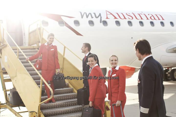 Der vierte Austrian Embraer OE-LWM startete zum Linienbetrieb : Embraer Simulator für Ausbildung von 197 Piloten von München nach Wien verlegt : Neuwertige Embraer-Jets ersetzen Fokker - höherer Reisekomfort für Passagiere : Copyright: Austrian Airlines – Michele Pauty
