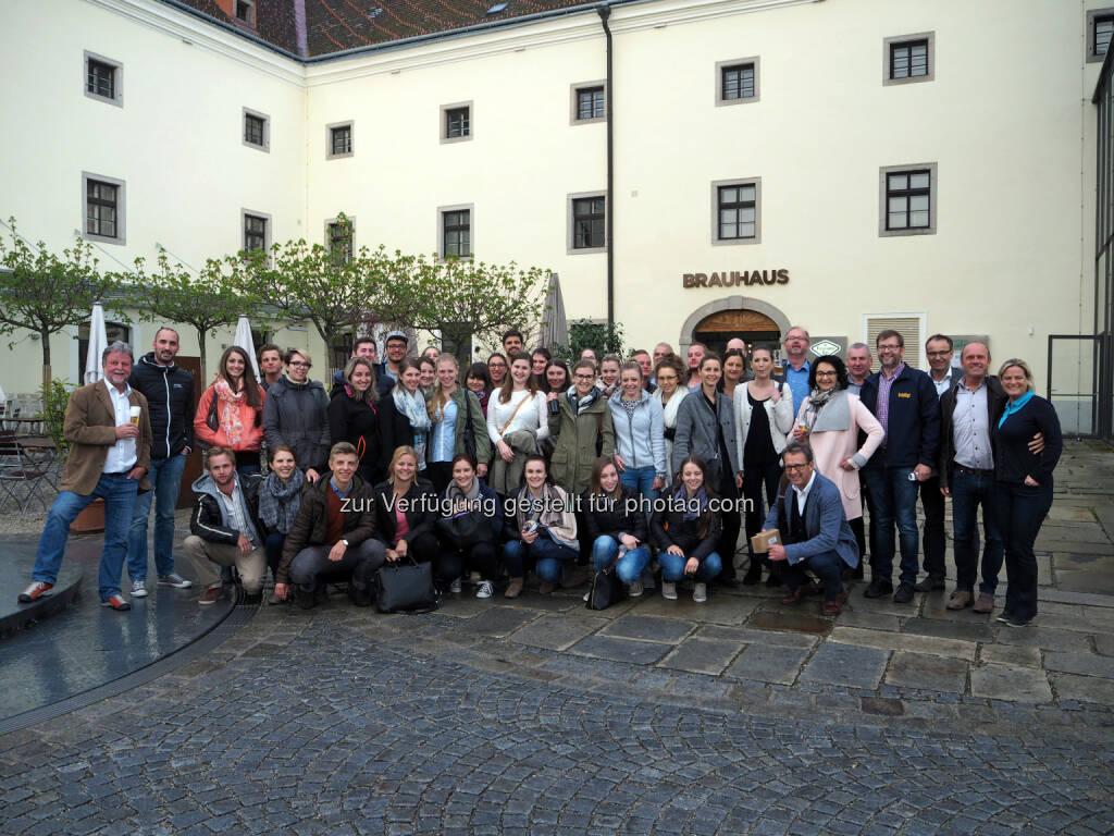 Exkursion vom Bachelor-Studiengang Innovation & Management im Tourismus : FH-Projekt führt Salzburger Studenten auf eine bierige Erlebnisreise durch die BierWeltRegion : Fotocredit: Mühlviertel Marken GmbH/Stiendl, © Aussendung (18.04.2016)