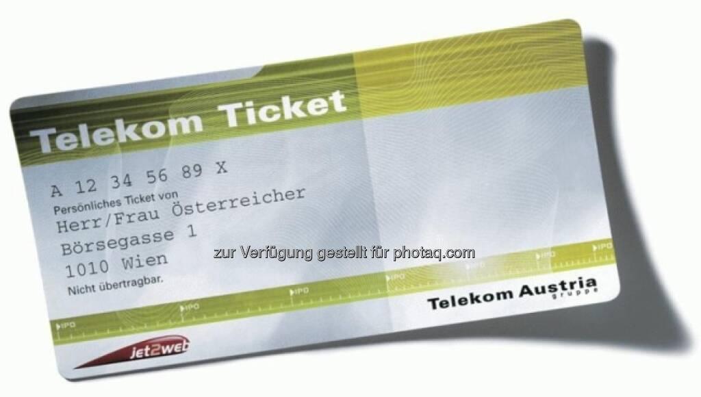Telekom Austria IPO, das Ticket (15.12.2012)