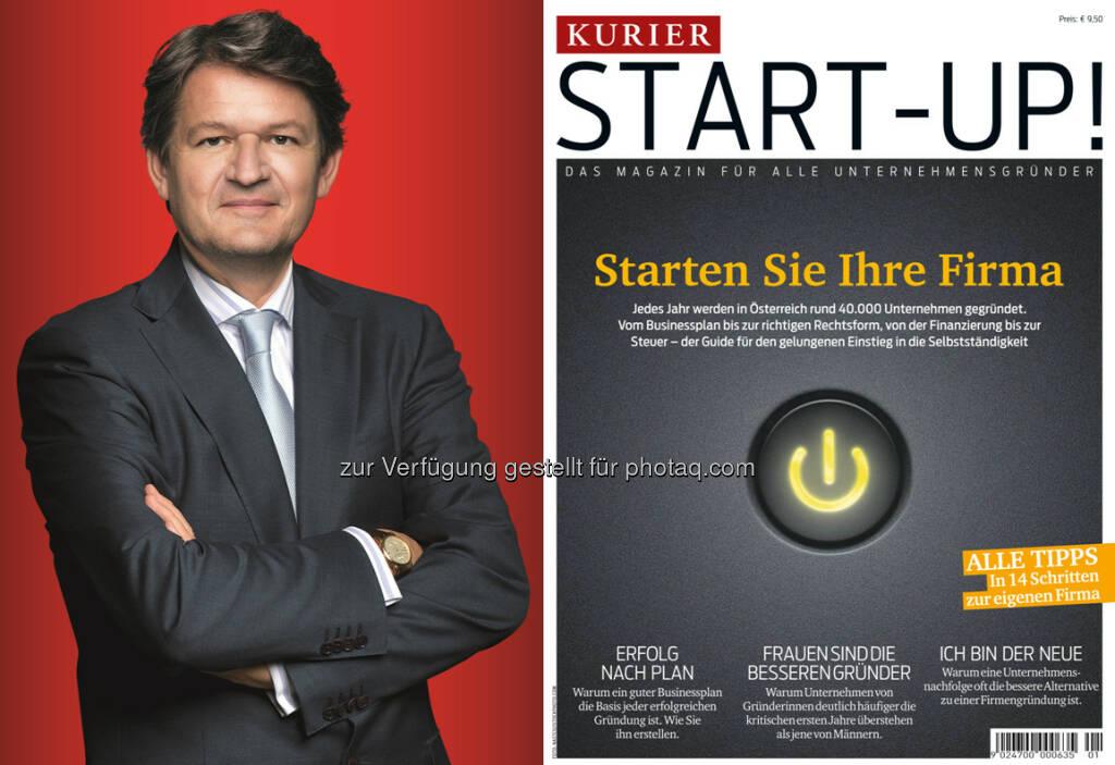 """Helmut Brandstätter, Kurier Chefredakteuer, """"Start-Up!""""- Magazin : Kurier unterstützt Unternehmer mit umfangreichem Leitfaden : Fotocredit: Kurier/Jeff Mangione, © Aussender (19.04.2016)"""