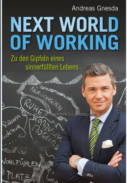 Buchcover Andreas Gnesda - Next World of Working : Zu den Gipfeln eines sinnerfüllten Lebens : Fotocredit: Teamgnesda/Schramm (19.04.2016)
