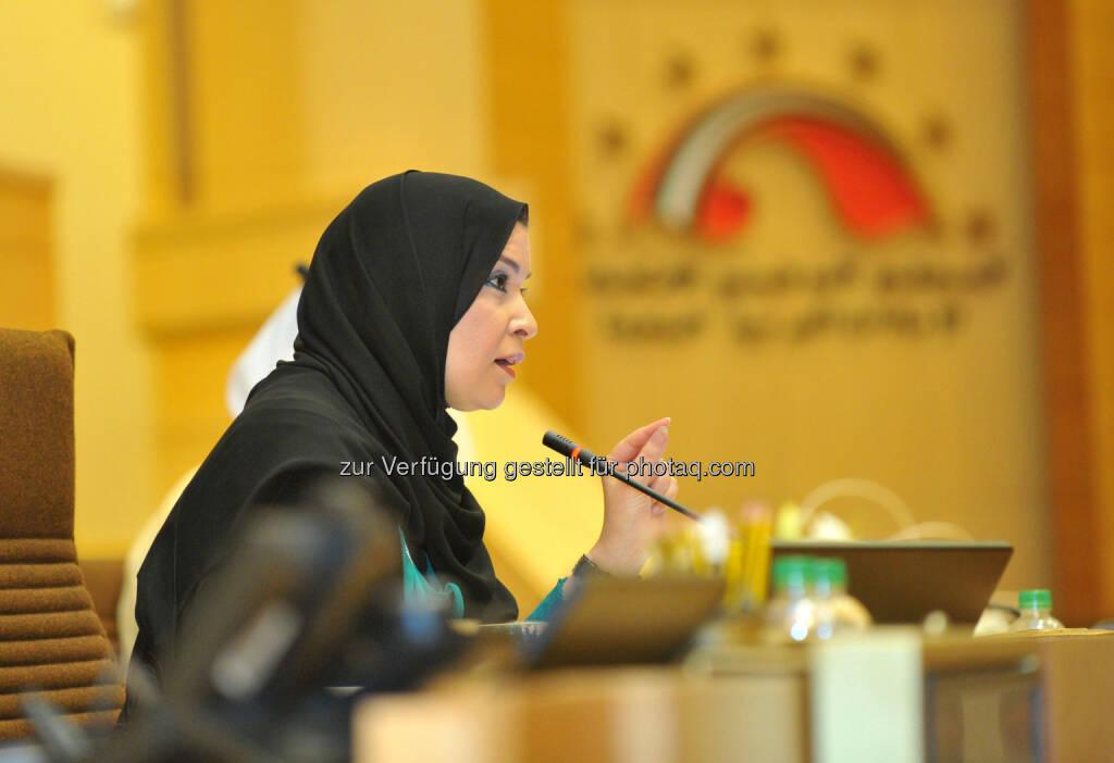 Amal Al Quabisi (Präsidentin des Emiratischen Nationalrats) : Die erste Frau des Parlaments besucht Österreich trifft Bundespräsident Fischer und Amtskollegen : Fotocredit: Nationalrat VAE, © Aussender (20.04.2016)