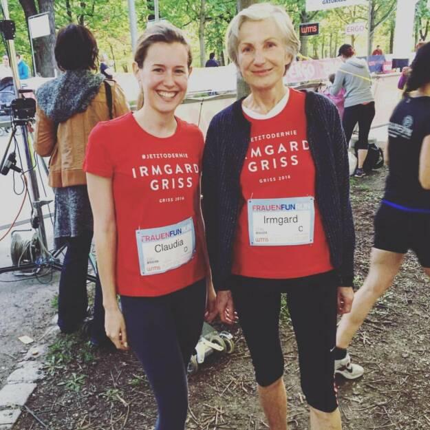 Claudia Gamon und Irmgard Griss (21.04.2016)