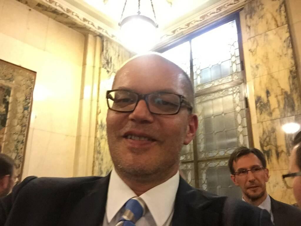 Karl Brauneis Selfie, Wiener Börse (22.04.2016)