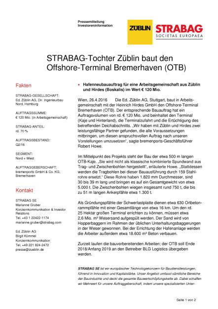 Strabag-Tochter Züblin baut Offshore-Terminal Bremerhaven, Seite 1/2, komplettes Dokument unter http://boerse-social.com/static/uploads/file_947_strabag-tochter_zublin_baut_offshore-terminal_bremerhaven.pdf (26.04.2016)