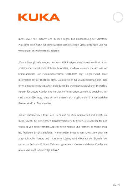 Kuka schließt Partnerschaft mit Salesforce, Seite 2/3, komplettes Dokument unter http://boerse-social.com/static/uploads/file_952_kuka_schliesst_partnerschaft_mit_salesforce.pdf (26.04.2016)