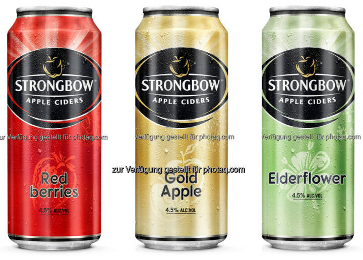 Strongbow Apple Ciders : Strongbow jetzt auch in der 0,4 Liter-Dose : Fotocredit: Brau Union Österreich