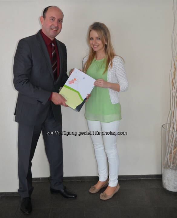 Robert Sobotka (VMÖ), Sandra Manzinger (Preisträgerin) : Beste Masterarbeit: Österreicherin gewinnt erstmals deutschen Nachwuchsforscherpreis : Fotocredit: ÖVM