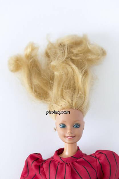 Haare zu Berge stehen, Barbie Puppe, © Martina Draper (14.04.2013)