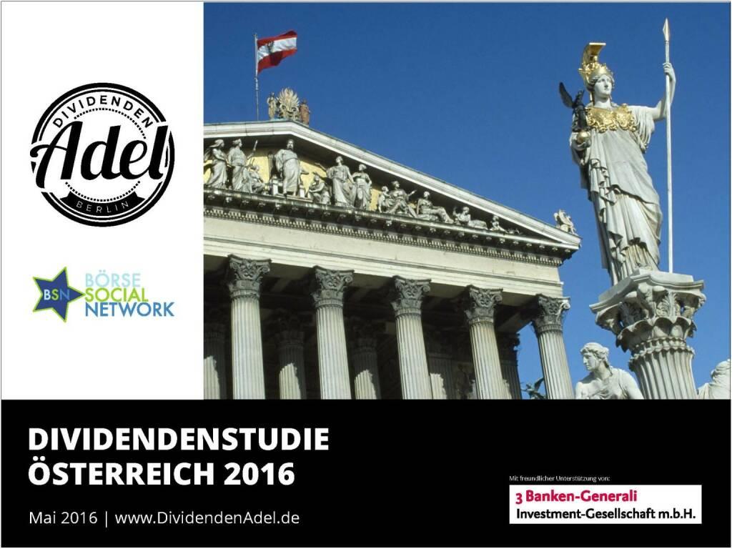 Dividendenstudie Österreich 2016, © BSN/Dividendenadel.de (06.05.2016)
