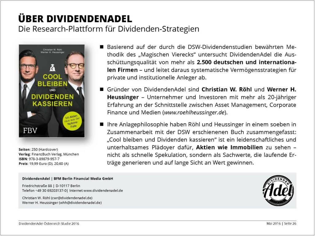 Dividendenstudie - Über Dividendenadel, © BSN/Dividendenadel.de (06.05.2016)