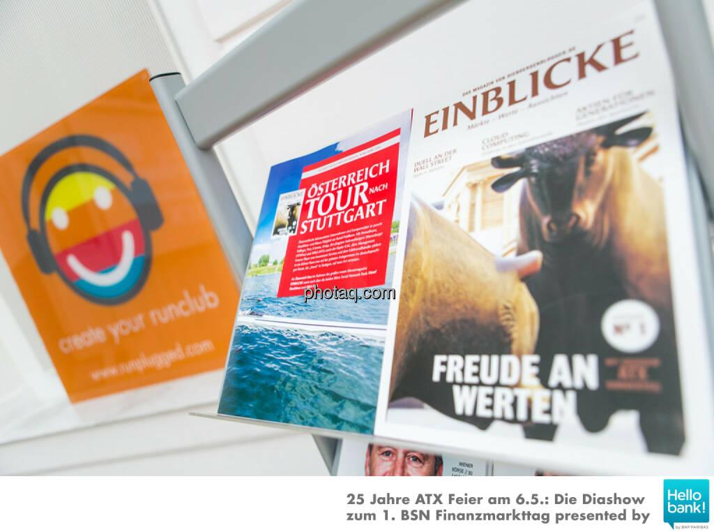 1. BSN Finanzmarkttag Runplugged Österreich Tour Einblicke, © Martina Draper/photaq (07.05.2016)