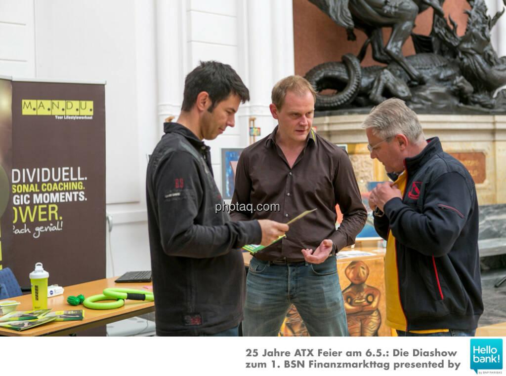 Rudolf Zipfelmayer, Stefan Lenhart (Mandu), Thomas Schneidhofer, © Martina Draper/photaq (07.05.2016)