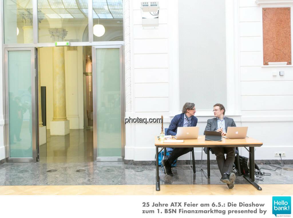 Josef Chladek (BSN), Lukas Sustala (NZZ), © Martina Draper/photaq (07.05.2016)