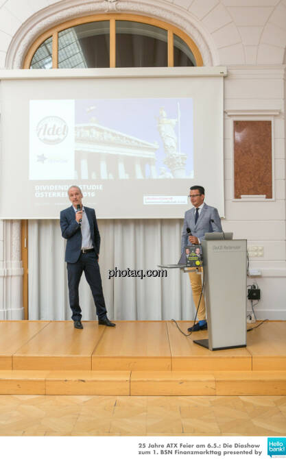 Christian Drastil, Christian Röhl stellen http://www.photaq.com/page/index/2505 presented by 3Banken Generali KAG vor, © Martina Draper/photaq (07.05.2016)