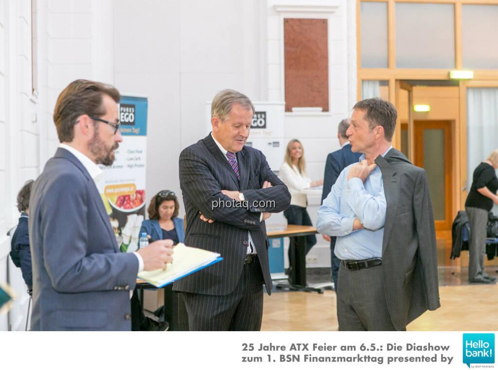 Hans Weitmayr, Eduard Zehetner, Mario Franzin, © Martina Draper/photaq (07.05.2016)