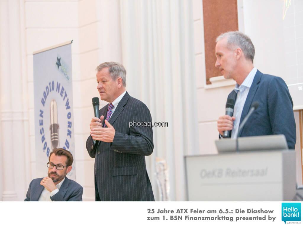 Hans Weitmayr, Eduard Zehetner, Christian Drastil für die Dr. Eduard Zehetner Chart Challenge http://www.photaq.com/page/index/2503, © Martina Draper/photaq (07.05.2016)