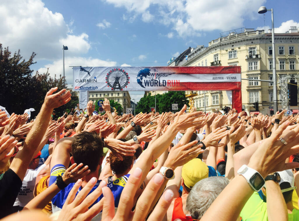 Hände, Menschen, Wave, Wings For Life World Run (08.05.2016)