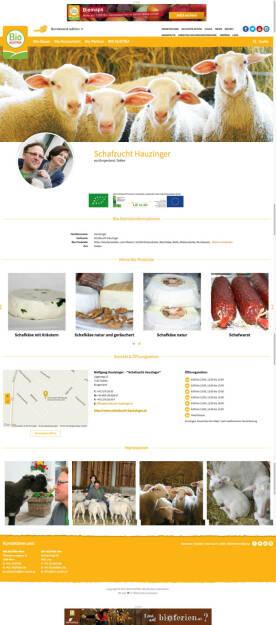 Produzenten-Seite in der Online-Bio-Suchmaschine Biomaps : Bio Austria startet Online-Bio-Suchmaschine Biomaps - Vernetzung von Konsumenten und bäuerlichen Familienbetrieben : Fotocredit: Bio Austria/El-Daly, © Aussender (09.05.2016)