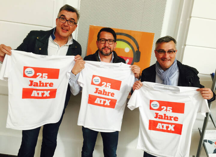 25 Jahre ATX - Manfred Haderer, Christian Faux, Christian Slovinec