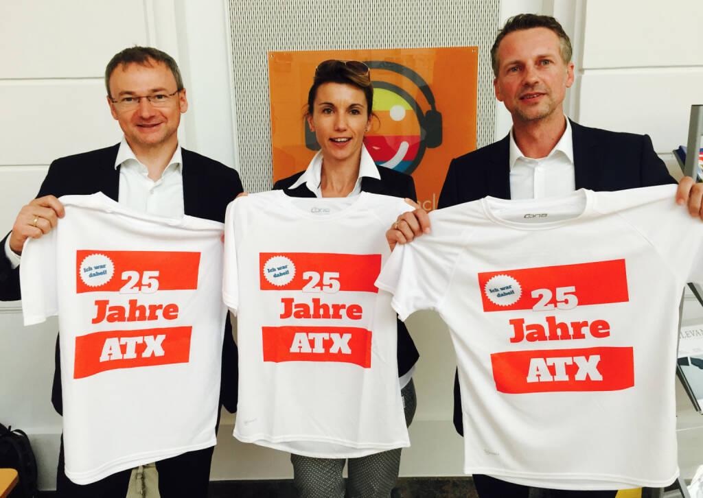25 Jahre ATX - Fritz Strobl, Alexandra Baldessarini, Martin Zier (09.05.2016)