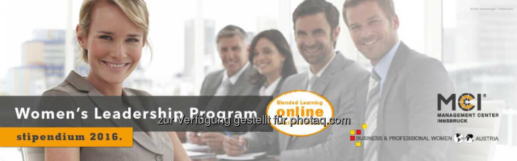 1. Women's Leadership Program : Business Professional Women Tirol und Managementcenter Tirol bieten ein Stipendium für das Erste Women's Leadership Program : Fotocredit: BPW Club Tirol, © Aussendung (10.05.2016)