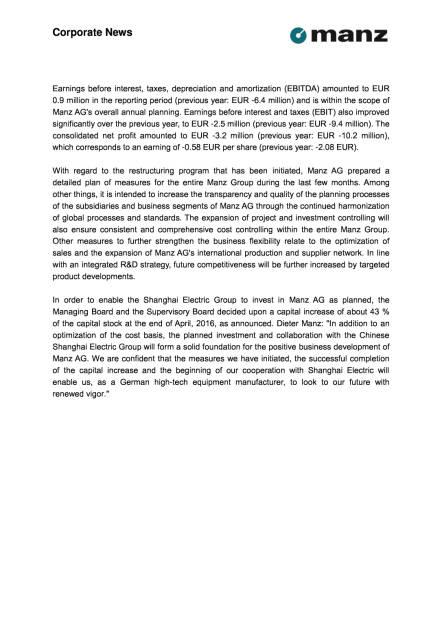 Manz AG: 1. Quartal 2016, Seite 2/3, komplettes Dokument unter http://boerse-social.com/static/uploads/file_1047_manz_ag_1_quartal_2016.pdf (12.05.2016)