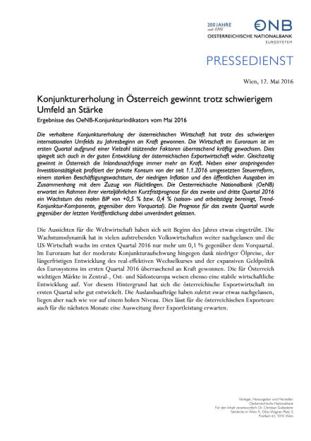 OeNB: Konjunkturerholung in Österreich, Seite 1/3, komplettes Dokument unter http://boerse-social.com/static/uploads/file_1050_oenb_konjunkturerholung_in_osterreich.pdf (12.05.2016)