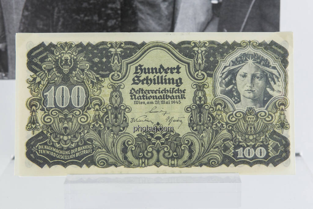 100-Schilling-Note aus dem Jahr 1945, © finanzmarktfoto.at/Martina Draper (15.04.2013)