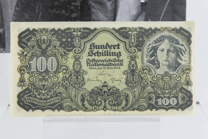 100-Schilling-Note aus dem Jahr 1945