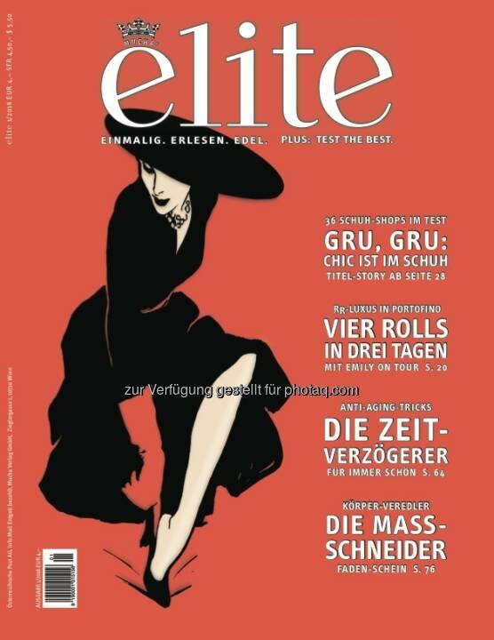 Cover-Illustration zu elite 1/2016 : Wiens Top-Schuh-Shops : Fotocredit: Mucha Verlag
