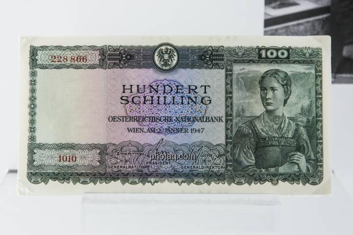 100-Schilling-Note aus dem Jahr 1947