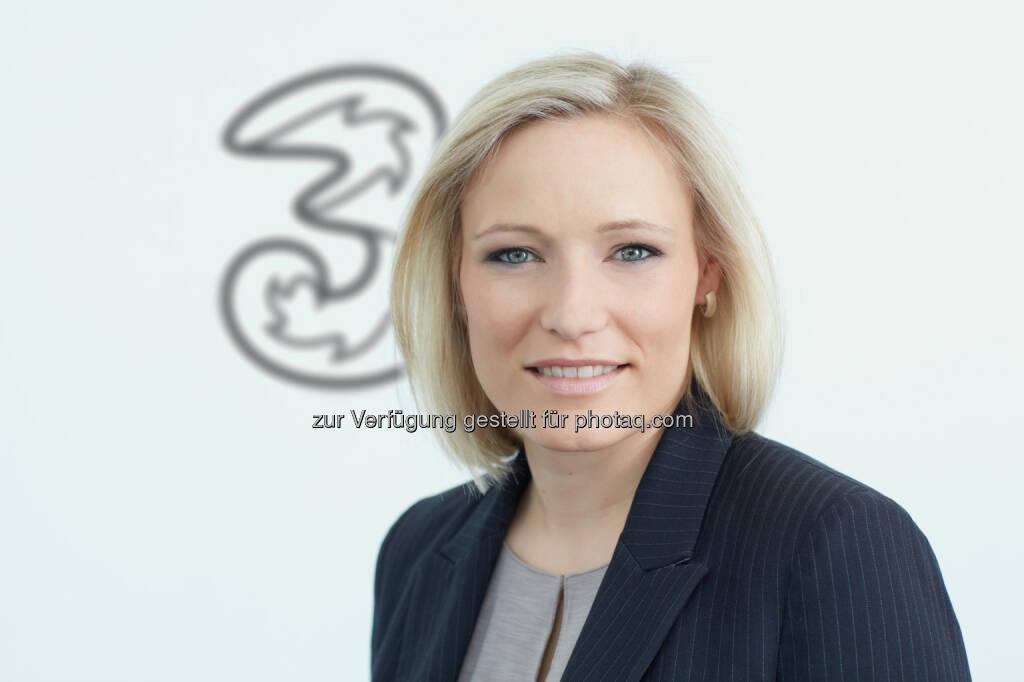 Veronika Rabl : Neue Personal-Chefin von Drei : Fotocredit: Hutchison Drei Austria GmbH/Michalski, © Aussender (17.05.2016)