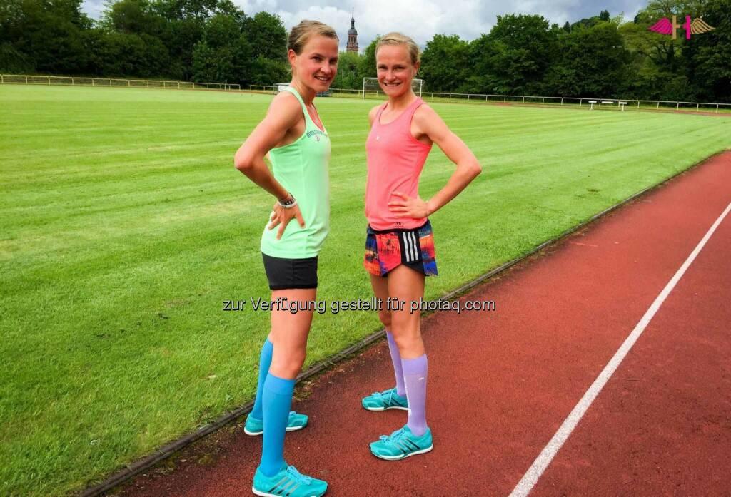 Anna und Lisa Hahner: Back on the track. Heute stand das erste richtige Intervalltraining wieder an mit Intervallen von 400m bis 3000m. Und es läuft rund., &copy; <a href=