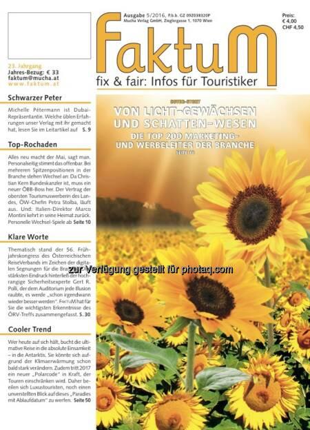 Cover-Illustration zu FaktuM 5/2016 : Marketingleiter-Ranking : Fotocredit: Mucha Verlag (20.05.2016)