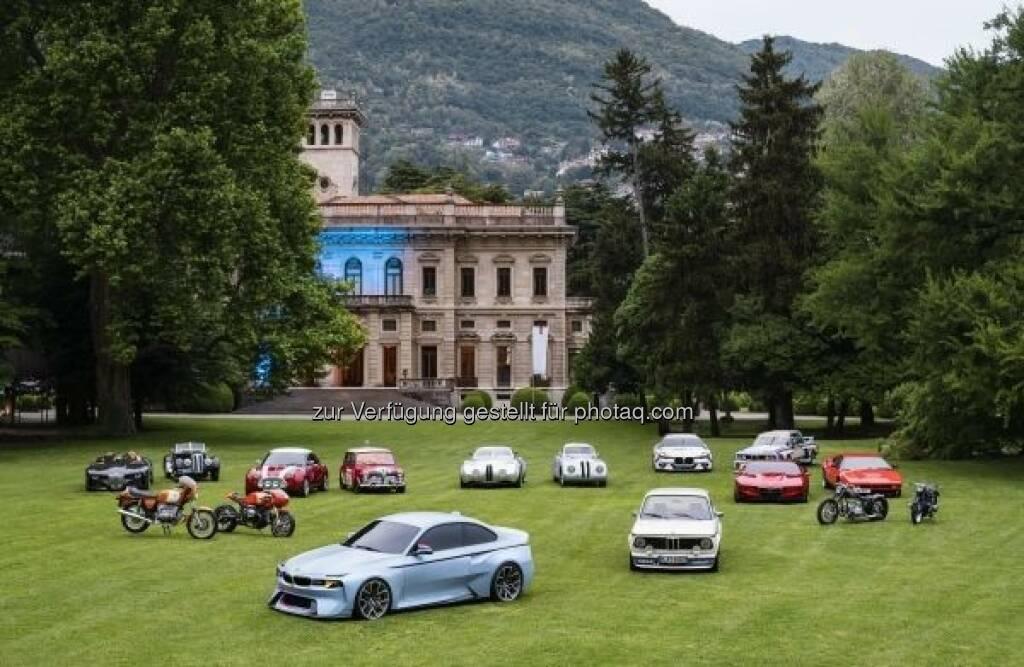 Hommage-Fahrzeuge der BMW Group : Tradition als Inspiration. Die Hommage-Fahrzeuge der BMW Group erstmals gemeinsam auf dem Concorso d'Eleganza Villa d'Este 2016 : © BMW Group (22.05.2016)