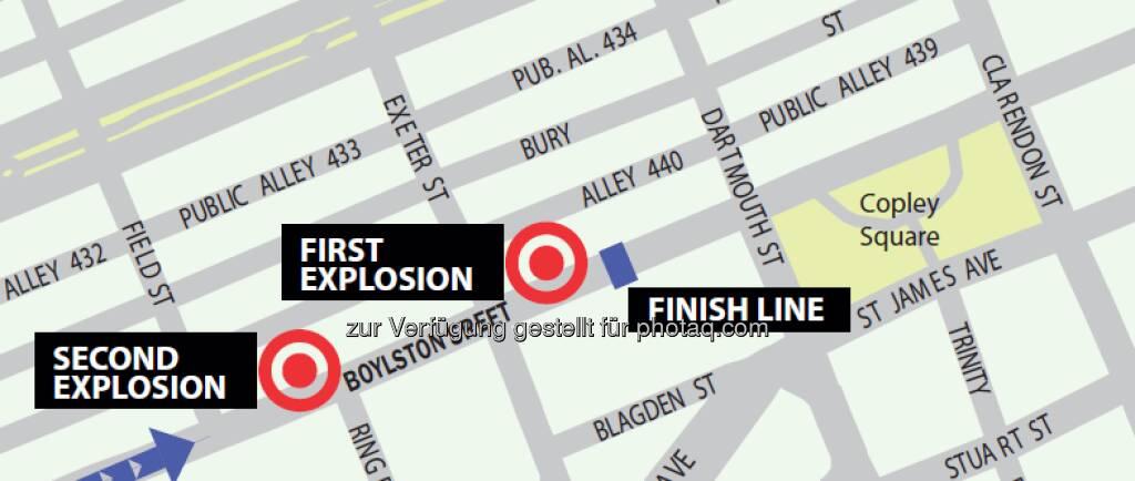 Boston-Bomben: Die traurigste Grafik im April 2013, zur Veröffentlichung zugesandt von http://www.maps4news.com  (16.04.2013)