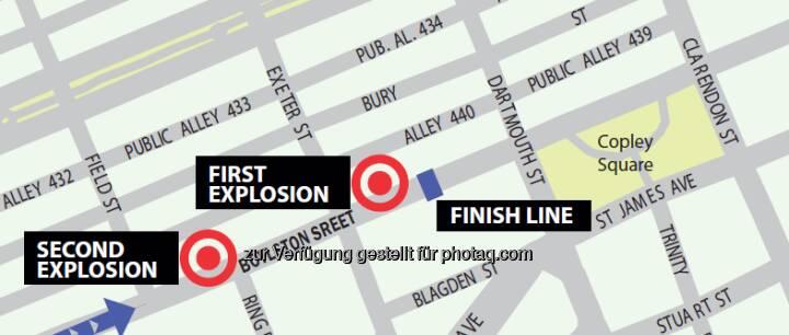 Boston-Bomben: Die traurigste Grafik im April 2013, zur Veröffentlichung zugesandt von http://www.maps4news.com