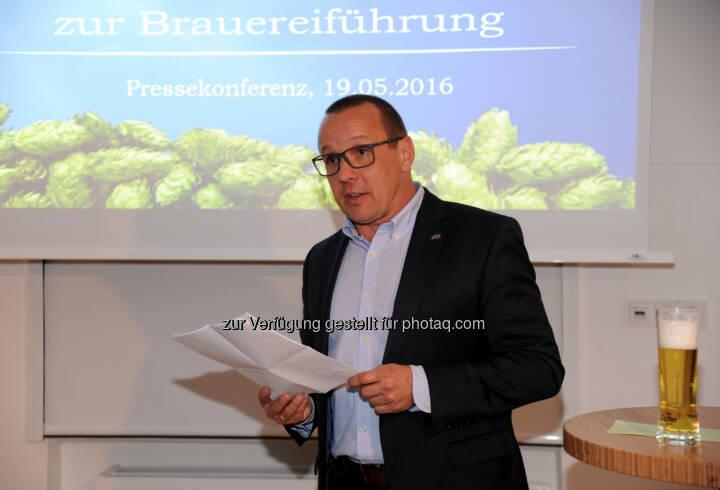 Harald Raidl (Braumeister) : Brauerei Zipf präsentiert sich nach Investitionen mit neuer, interaktiver Führung für Bierliebhaber und hopfigem Schwerpunkt : Fotocredit: Brau Union Österreich / Klemens Fellner