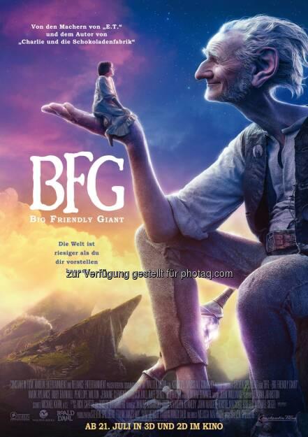 BFG Big Friendly Giant Hauptplakat : Neuer Trailer und Plakat online : Fotocredit: Constantin Film/Constantin Film Verleih, © Aussendung (24.05.2016)