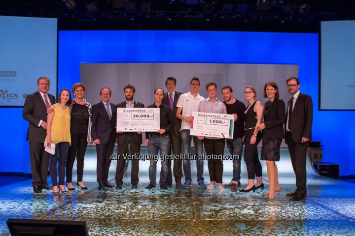 Gewinner des S&B-Awards und der Future Founders Challenge 2016 : Rudolf Sallinger Fonds : Ziel ist es Entrepreneurship an österreichischen Hochschulen zu verankern - Unternehmergeist beim Nachwuchs fördern : Fotocredit: C./Christian Georgescu