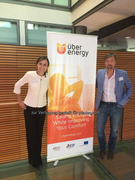 Dominika Bienkowska und Rolf Behrsing (ÜberEnergy) : Das Startup ÜberEnergy ebnet mit innovativer Plattform den Weg zu Smart Energy ohne Komfortverlust : Fotocredit: ÜberEnergy, © Aussendung (24.05.2016)
