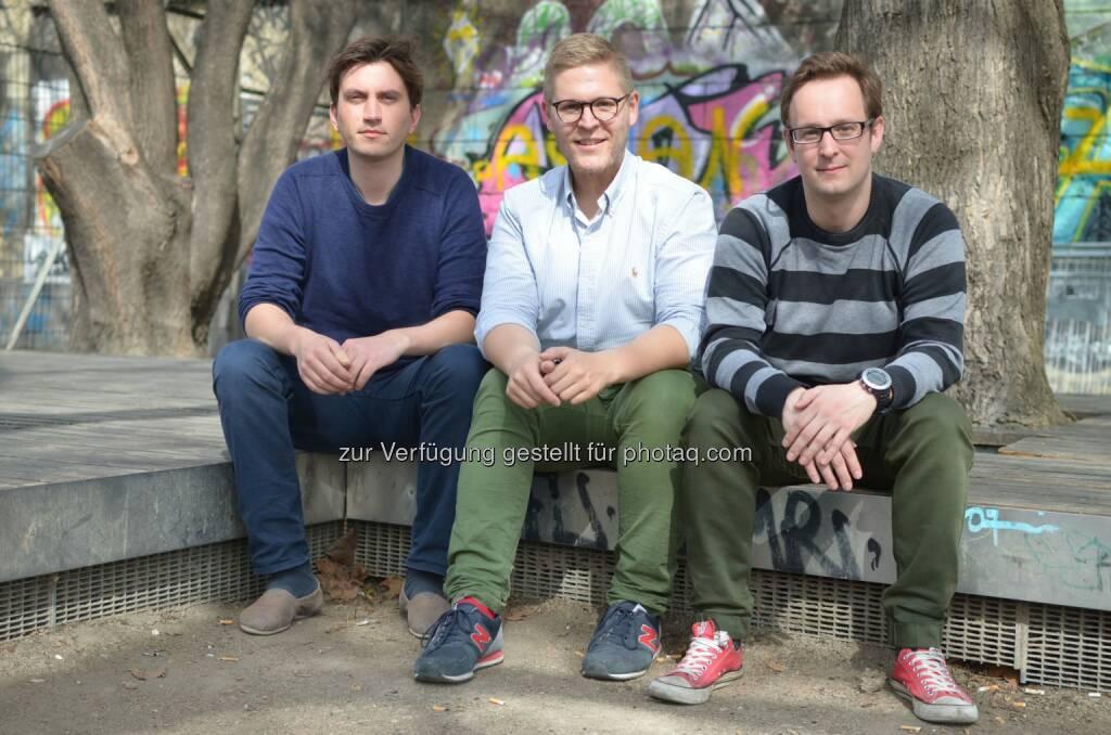 Ferdinand Dietrich, Johannes Braith und Christoph Sandraschitz (Gründer StoreMe) : StoreMe – die Lagerplatzbörse auf Wachstumskurs : Fotocredit © StoreMe, © Aussendung (24.05.2016)