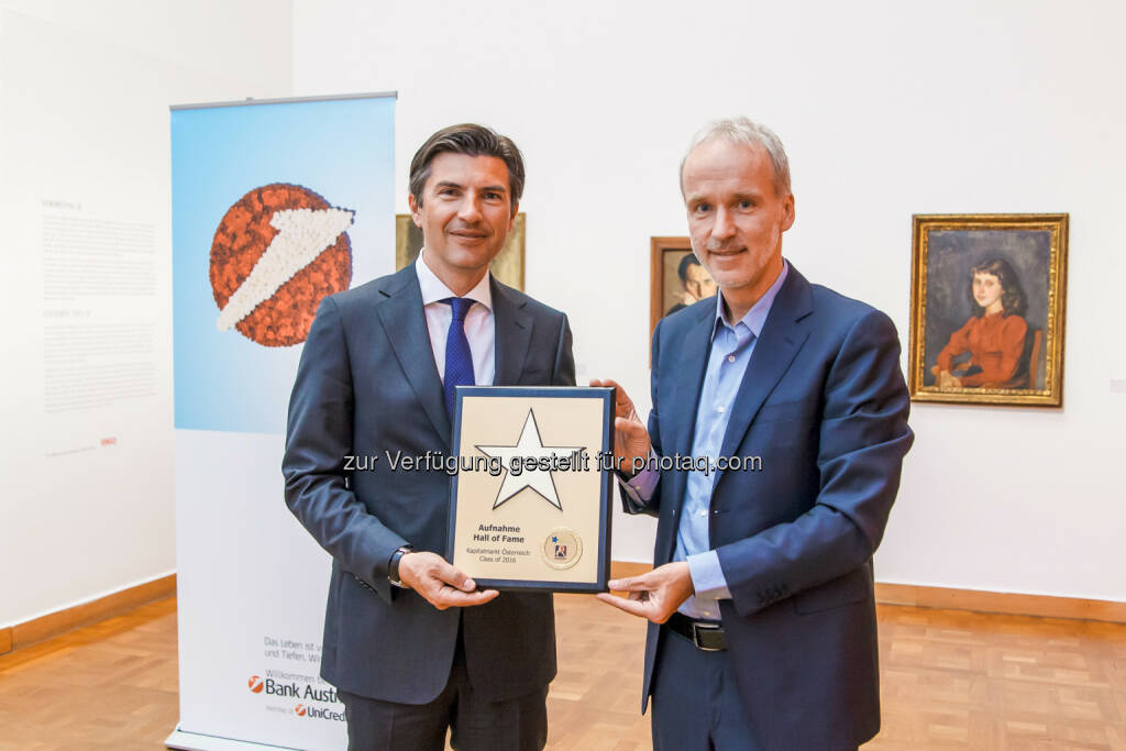 Robert Zadrazil (Bank Austria), Christian Drastil (BSN)  Foto Joe Schroecker, © Martina Draper/photaq (24.05.2016)