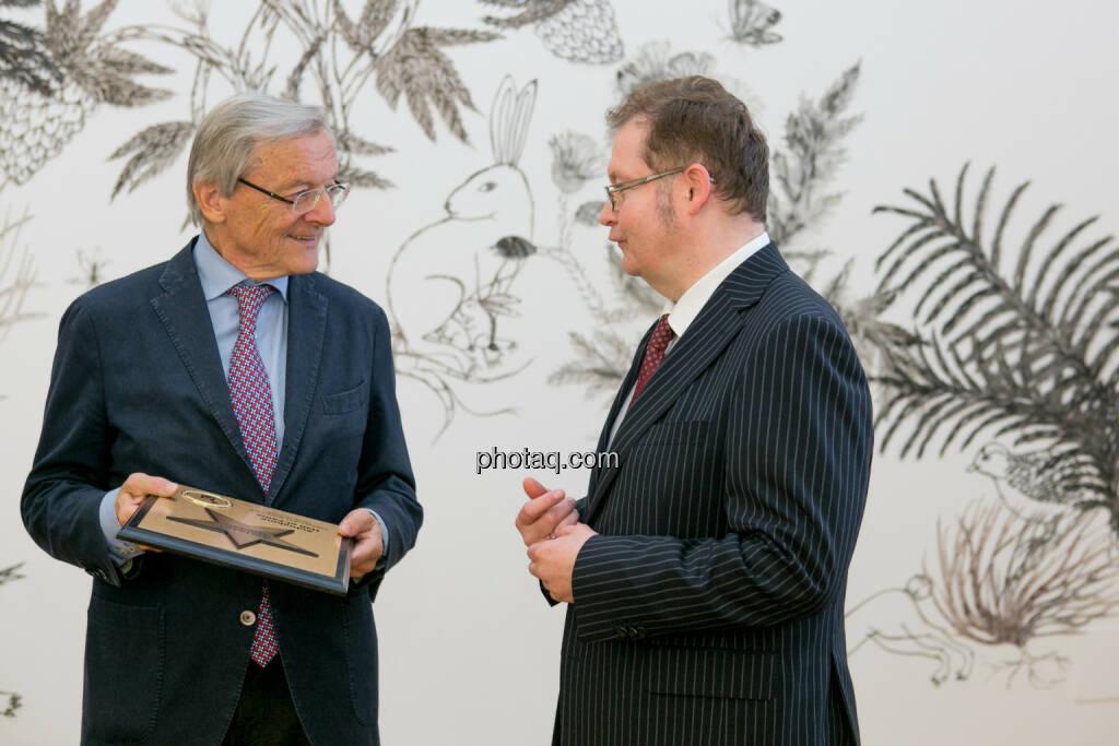 Wolfgang Schüssel, Gregor Rosinger (Rosinger Group), © Martina Draper/photaq (24.05.2016)