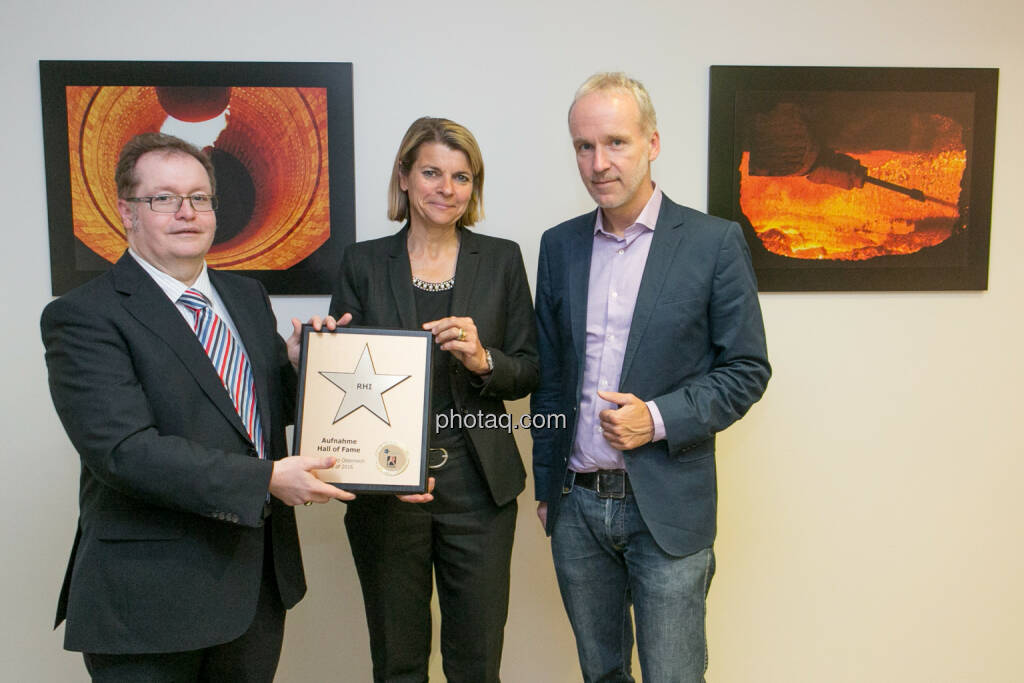 Gregor Rosinger (Rosinger Group), Barbara Potisk-Eibensteiner (RHI), Christian Drastil (BSN), © Martina Draper/photaq (24.05.2016)