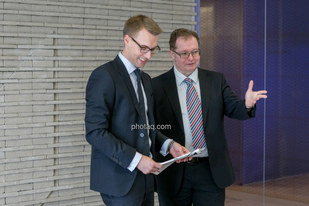 Klaus Ofner (Wienerberger), Gregor Rosinger (Rosinger Group), © Martina Draper/photaq (24.05.2016)