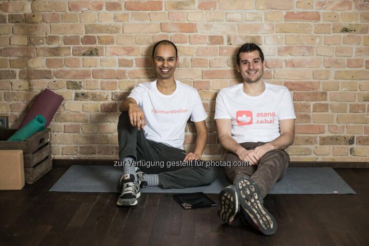 Robin Pratap und Pascal Klein (Gründer von Asana Rebel) : Asana Rebel – die Yoga-App für das moderne Leben : Fotocredit: Asana Rebel