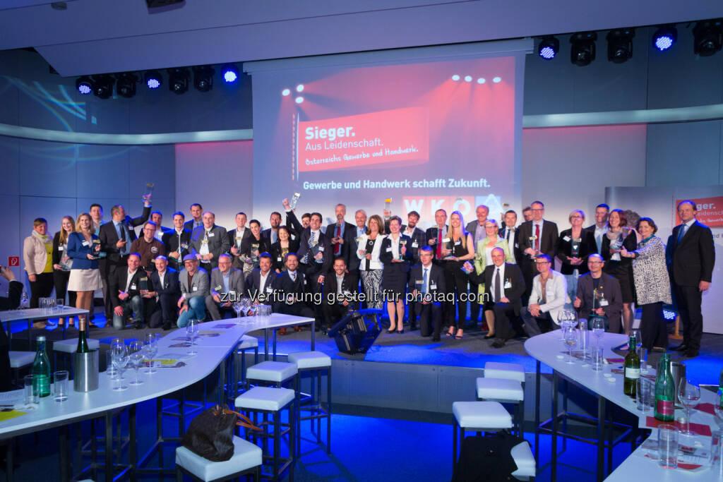 Die Sieger aus Leidenschaft : Gala zu Ehren der Top-Betriebe aus Gewerbe und Handwerk des Jahres 2015 : Fotocredit: WKÖ/Presseabteilung/Weinwurm, © Aussendung (25.05.2016)