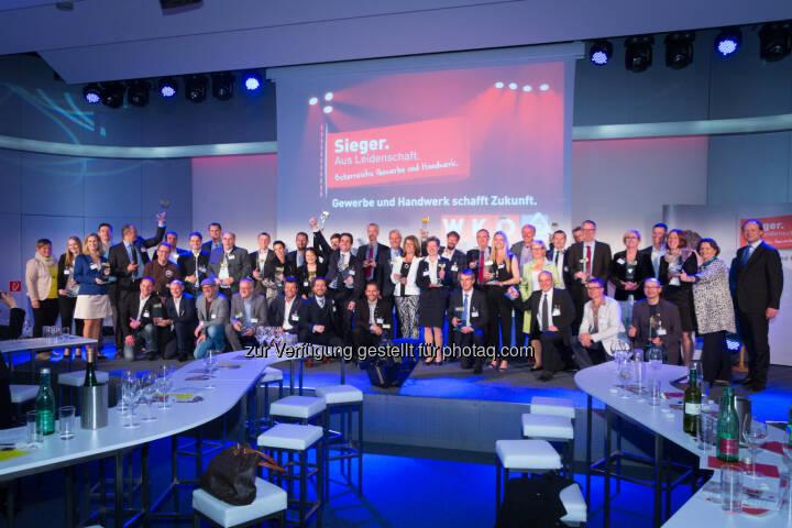 Die Sieger aus Leidenschaft : Gala zu Ehren der Top-Betriebe aus Gewerbe und Handwerk des Jahres 2015 : Fotocredit: WKÖ/Presseabteilung/Weinwurm